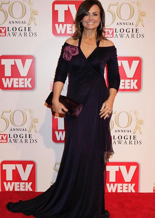 """From memory this was from the mid-2000s, and I still couldn't quite believe I had even been invited to 'TV's Night Of Nights'. Good times. Frock by Marilyn Said from Covers,"" *The Project* host Lisa Wilkinson explained alongside this glamorous shot."
