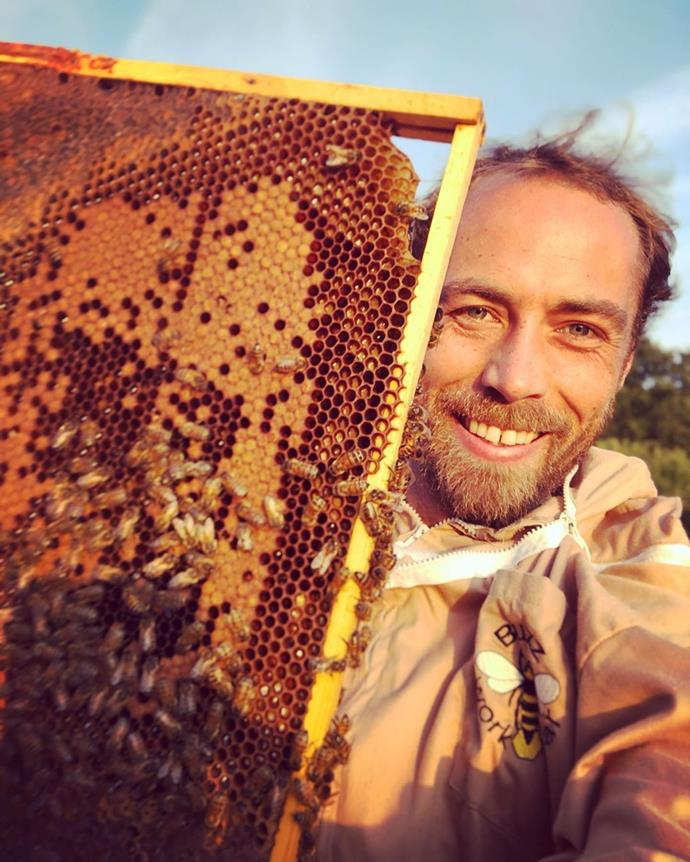 James Middleton pictured with his beloved bees.