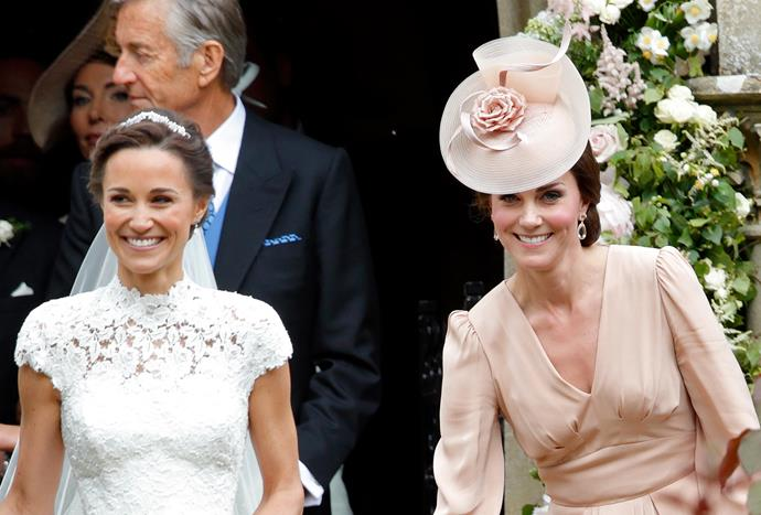 James's sisters Pippa and Kate, pictured, along with his parents, bought him a beehive.