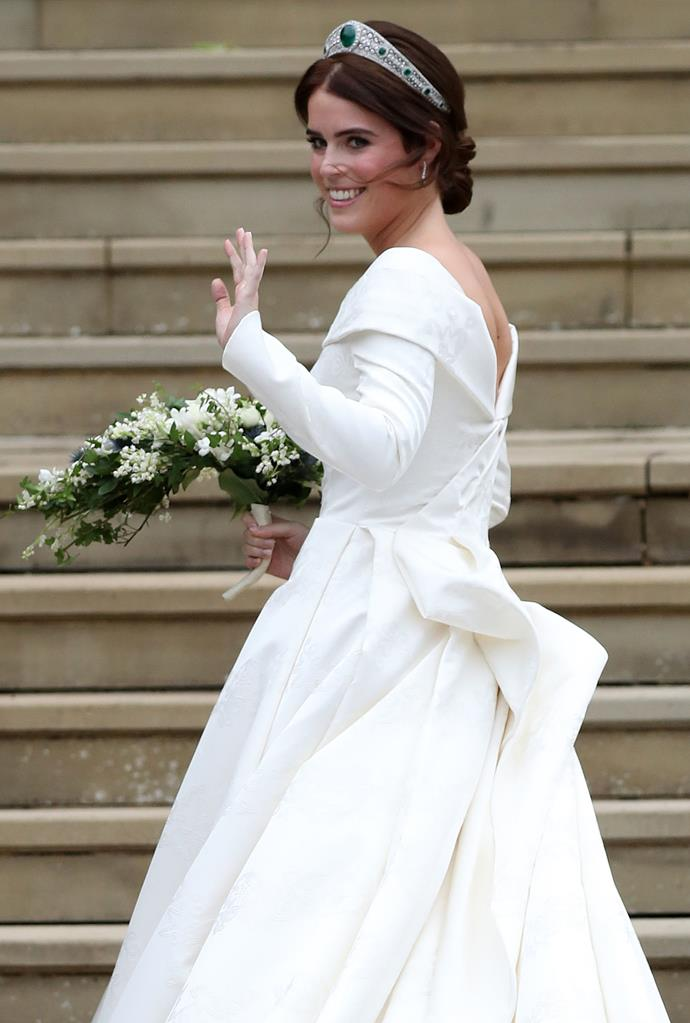 The Princess specifically requested her wedding dress feature a low back in order to show her scar.