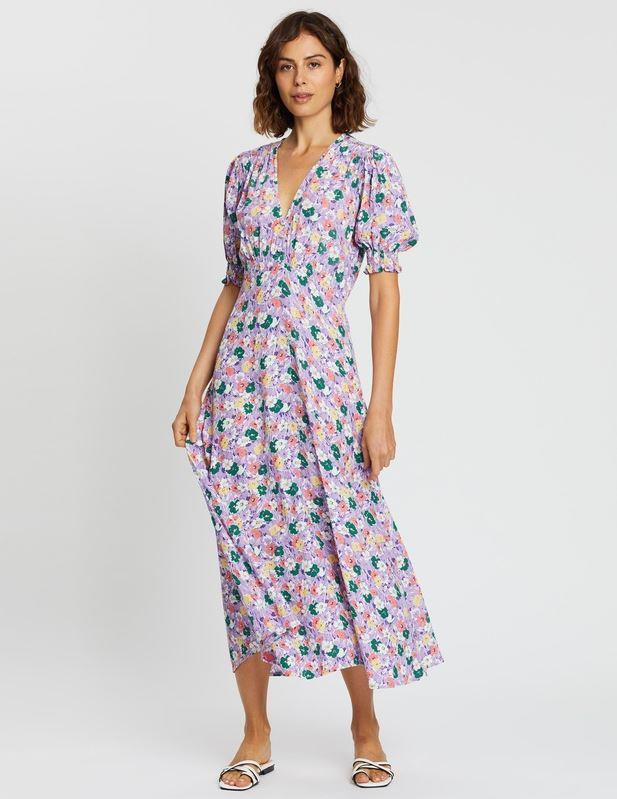 """Kate's dress in question is known as the [Marie-Louise Midi Dress](https://www.theiconic.com.au/marie-louise-midi-dress-997125.html