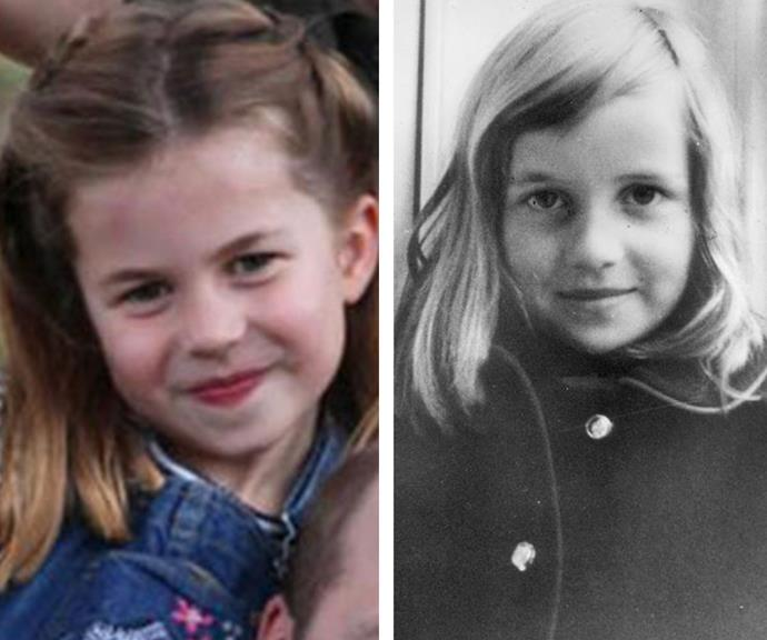 "When Kensington Palace shared a series of [new family photos to mark Prince William's birthday](https://www.nowtolove.com.au/royals/british-royal-family/prince-william-children-photo-64339|target=""_blank"") this month, fans jumped at the chance to point out the similarities between Princess Charlotte, five, and her late grandmother, Princess Diana. The pair certainly share the same pursed smile, button nose and captivating eyes."