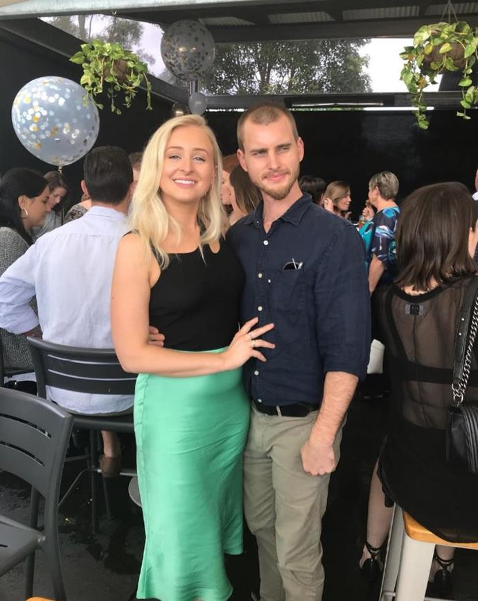 With her partner, Eliot Nelson.