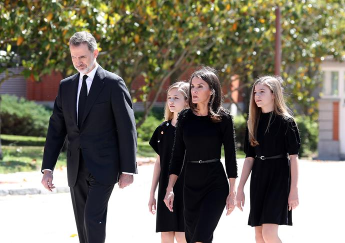 "On May 27, 2020, the Spanish royal family gathered in [one of their first appearances together](https://www.nowtolove.com.au/royals/british-royal-family/royals-affected-by-coronavirus-63071|target=""_blank"") since the start of lockdown at the Zarzuela Palace, to observe a minute of silence in memory of the victims of COVID-19."