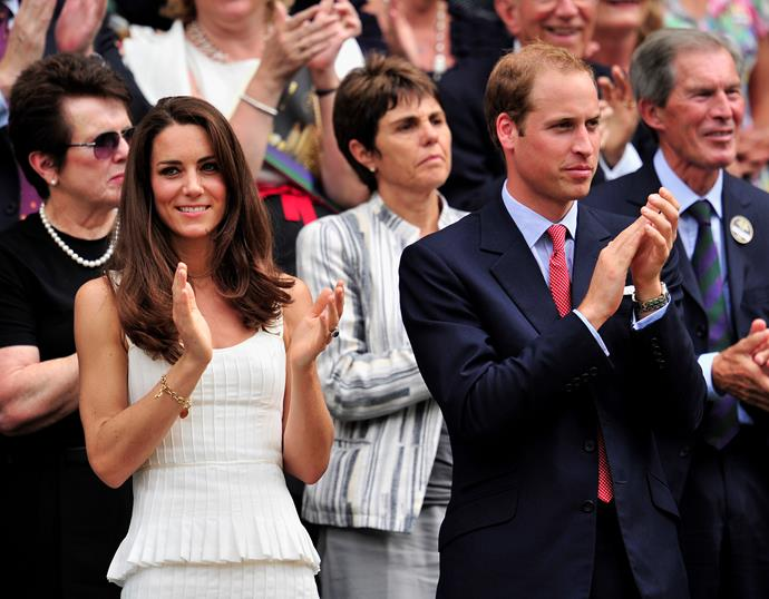 Kate and Wills are avid tennis fans, and have been regular fixtures at the tournament for many years.