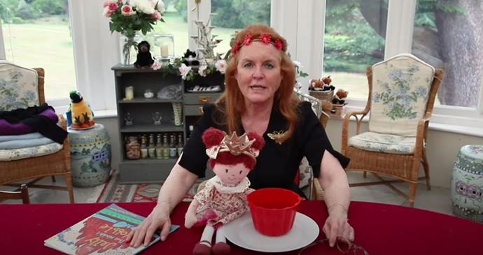 Sarah read *The Jelly That Wouldn't Wobble* by Angela Mitchell with some uncanny accessories. Does she look familiar at all...?