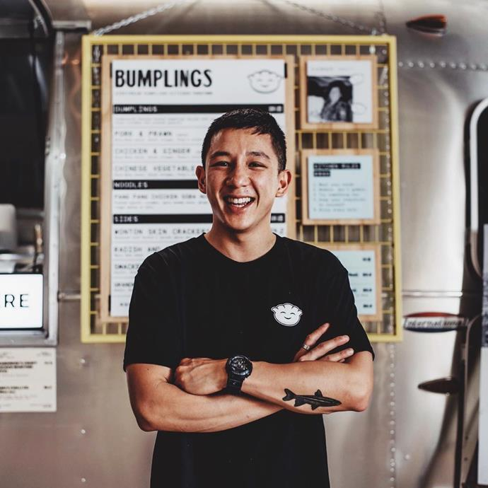 Brendan pictured outside his Bumplings food truck in Perth.