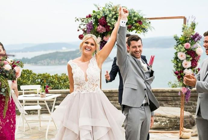 Like many Summer Bay weddings gone by, this was truly one for the books - we're particularly fond of Ziggy's wedding dress, which was designed by her pal and talented fashion designer Olivia.