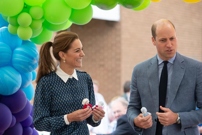 Kate looked elegant as she and Wills attended the afternoon tea with healthcare workers.