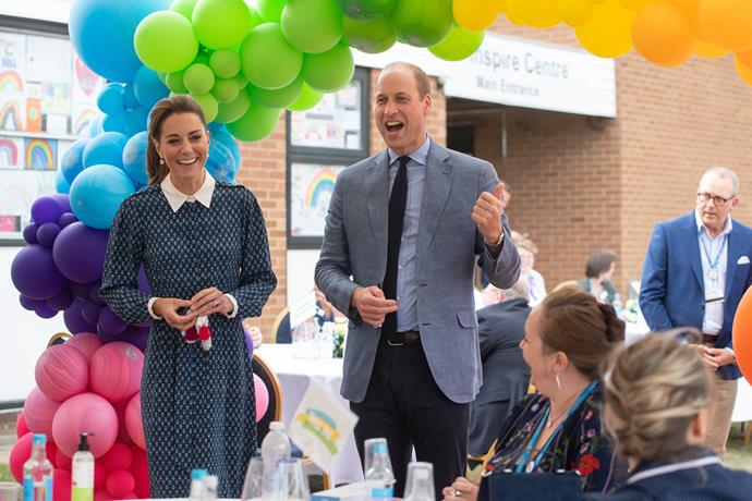 The Duke and Duchess heard special stories from some of the workers as they mingled with guests at the morning tea.