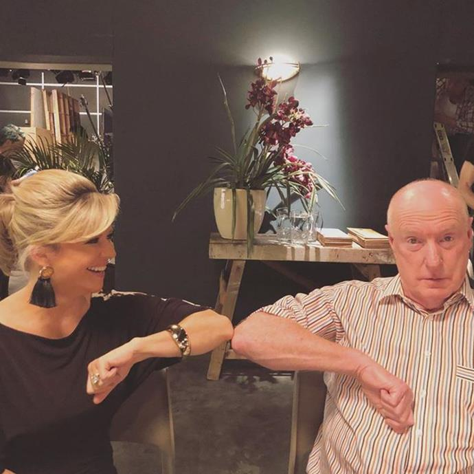 Emily Symons and Ray share a new world 'handshake' in another candid.