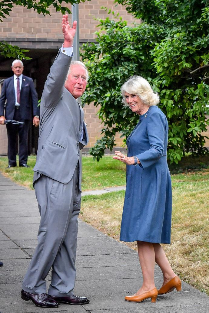 Charles and Camilla had their first public engagement post-lockdown in Gloucester where they met NHS frontline workers - at a social distance.