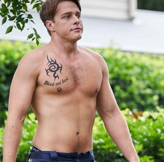 Of course, *Home and Away* would be nothing without a little plot twist here and there, are we right? Colby was soon revealed to have previously been a part of the River Boy gang (cue gasps). We're not sure what could have possibly given him away, the trademark 'Blood and Sand' tattoo or chiselled washboard abs? Either is part and parcel - and boy are we grateful for the latter...