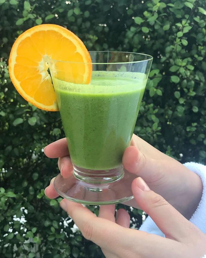 Miranda's go-to green smoothie.