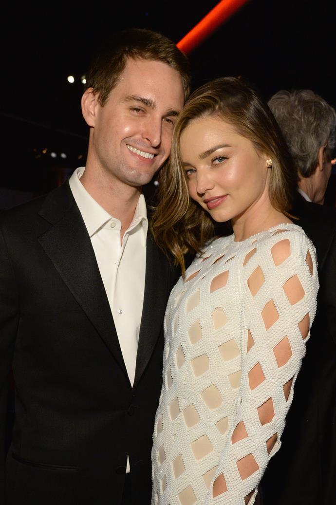 Evan and Miranda first met in 2014 at a work dinner in Los Angeles.