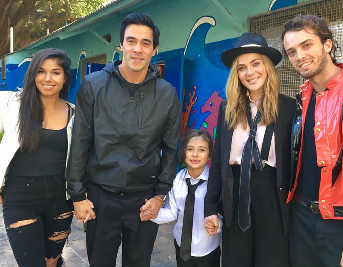 Sarah and James united with his ex Jessica Marais for daughter Scout's Michael Jackson-themed birthday party! James is clearly a very committed father.