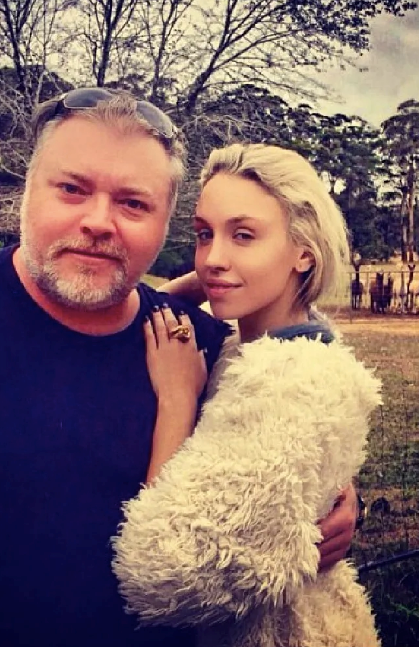 Kyle Sandilands with his ex-girlfriend Imogen Anthony at their property in Robertson.
