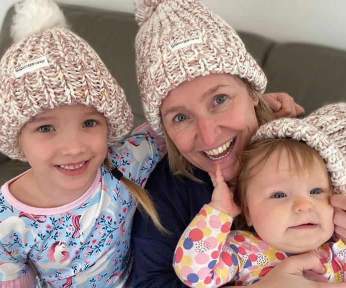 """""""It's time to put an end to brain cancer! These gorgeous @carriesb4bc beanies are on sale July 14 online www.carriesbeanies4braincancer.com 🙏💕,"""" Carrie's good friend Fifi Box shared."""