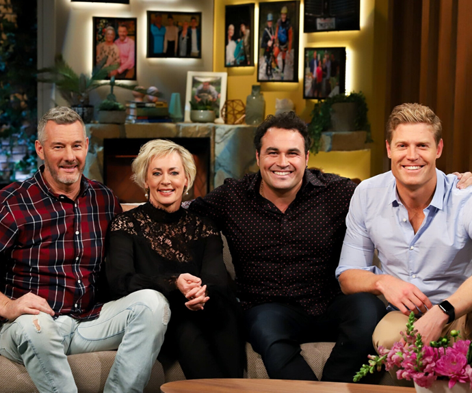 Dr Chris Brown (right) with his *The Living Room* co-hosts (L-R) Barry Du Bois, Amanda Keller and Miguel Maestre.