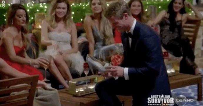 Richie presented Janey with her shoe when she left it behind on her first post-limo meeting.