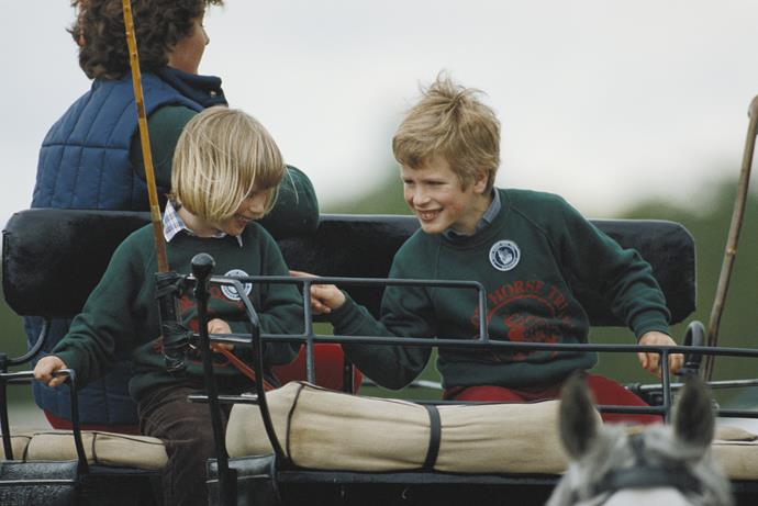 """They've both achieved their own levels in their own sports."" - Princess Anne's children, Zara and Peter (pictured in 1984)."