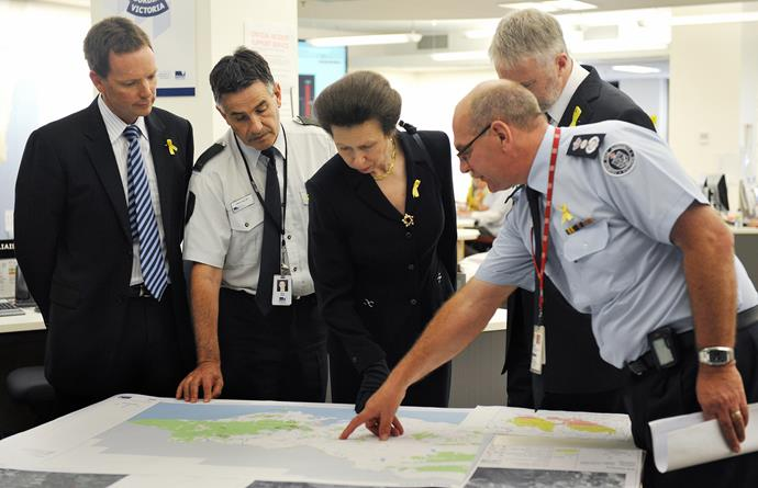 The Princess Royal visited Australia again in 2009 in the wake of the devastating Black Saturday bushfires.