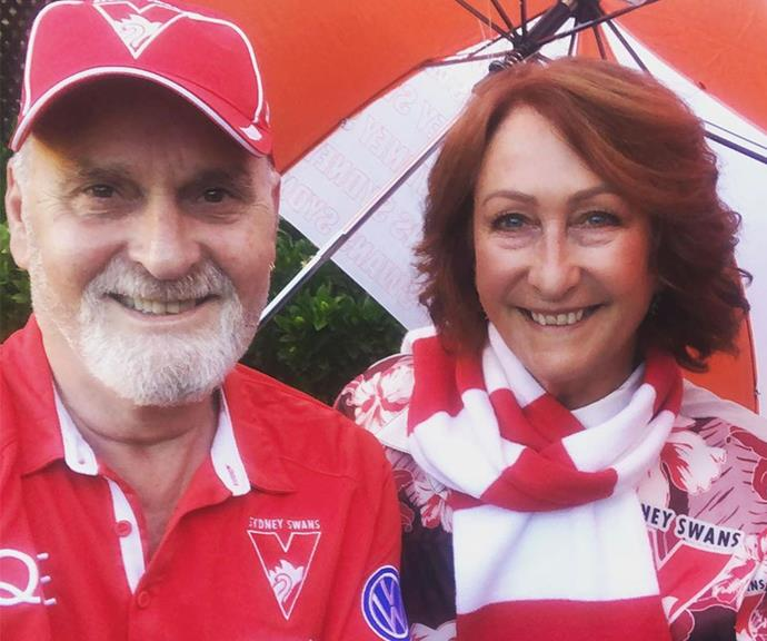 Lynne and Paul are huge sports fans, often heading to the AFL to cheer on their beloved Sydney Swans.
