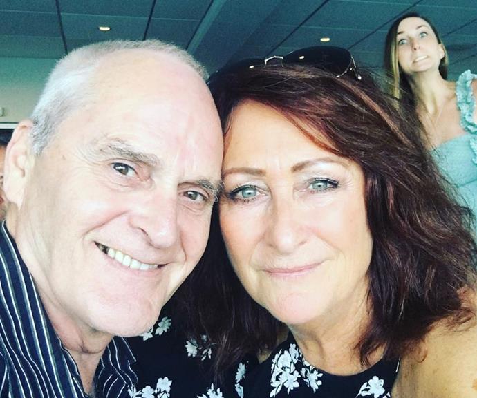 Spot the daughter photobomb! Clancy crashes her parents' romantic selfie.