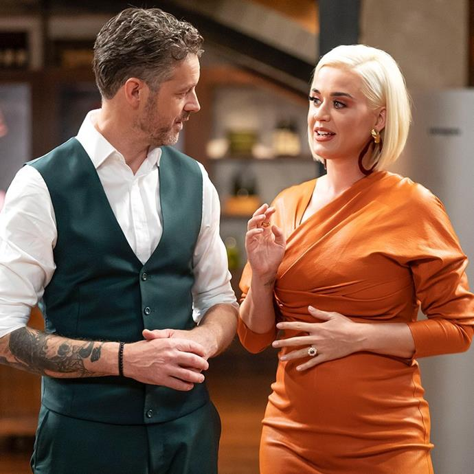 Jock, pictured with guest judge Katy Perry earlier in the season, while wearing a different worry bead bracelet.