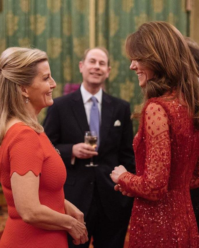 Duchess Catherine and Countess Sophie were the image of regal stability at a Buckingham Palace soiree.