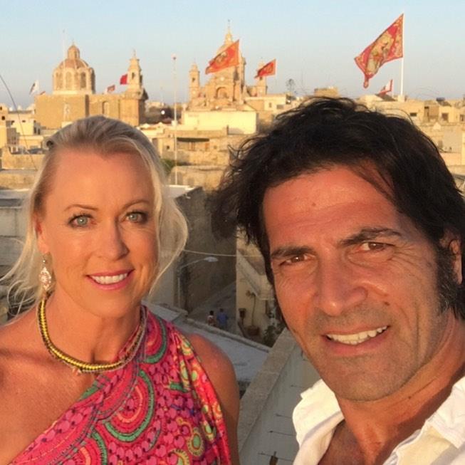 Lisa Curry and her husband Mark Tabone.