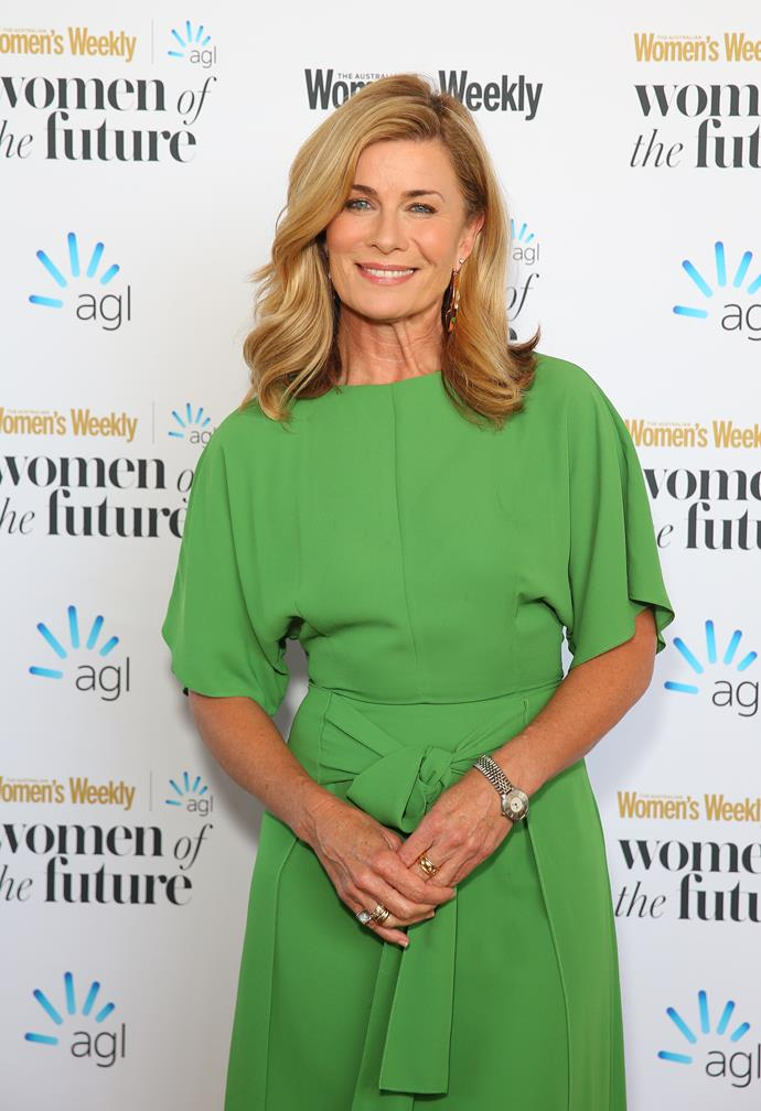 Deborah Hutton looked radiant at the 2019 Australian Women's Weekly Women of the Future Awards.