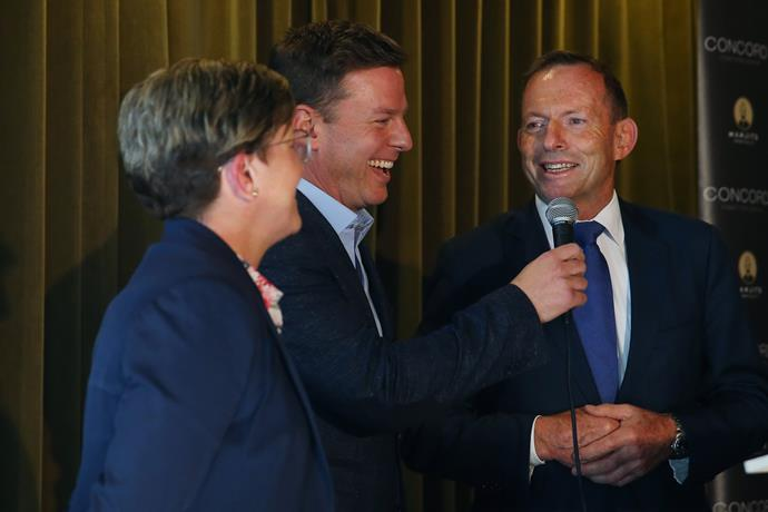 Ben with Christine Forster and former Prime Minister Tony Abbott at the launch for Christine's book, *Life, Love & Marriage* last month.