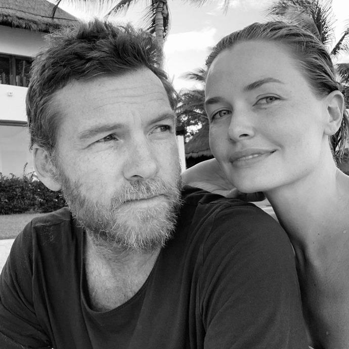 Lara (pictured with her husband Sam Worthington) lost her father after a battle with Bowel Cancer.
