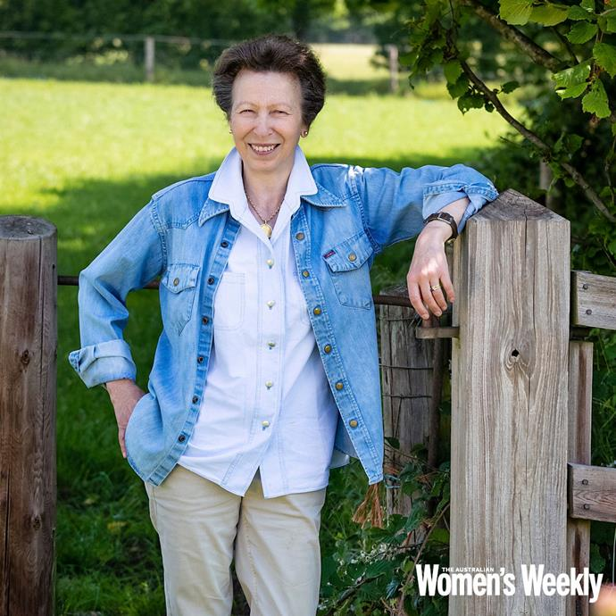 The Princess Royal was photographed on her estate on a warm summer's day.