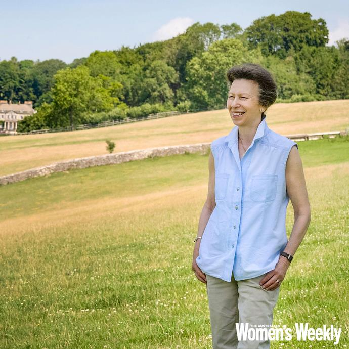 Princess Anne stands on her estate in the heart of Gloucestershire for a 70th Birthday special shoot with *The Weekly*.