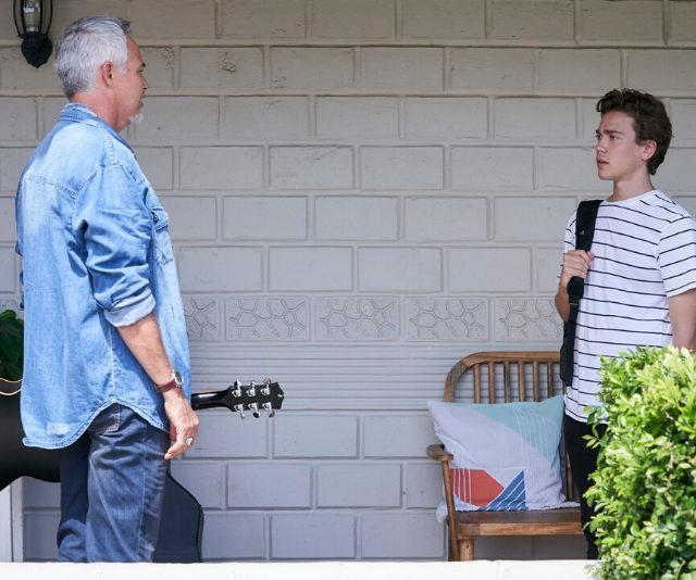 """Evan's entrance to Summer Bay and subsequent revelation he was Ryder's biological father didn't quite go down well.<br><br> """"He wonders why Evan is there and wants him gone. But when his mother validates it, Ryder becomes angry that his father has abandoned him for so many years,"""" Cameron told *TV WEEK*."""