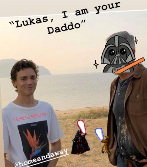"""Cameron followed up with a hilarious *Star Wars* take on the same photo.<br>  """"This story is just getting Star….ted,"""" he wrote."""