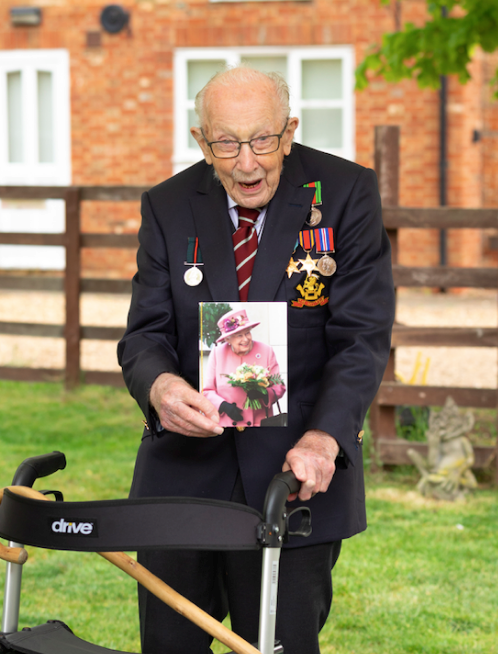 The Queen will give Captain Tom Moore his Knighthood in person this coming Friday.