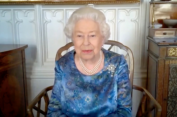 Up until now, the Queen has been taking part in engagements via video chats.