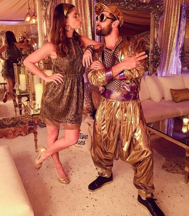 Proving once again their couple costumes are absolute gold, Zoe and Dan rang in the New Year in dazzling fashion.