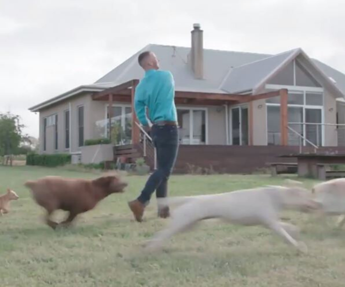 In the promo clip, Jack is seen playing with his dogs on his farm.