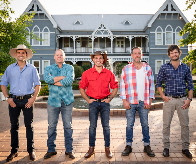 The five farmers looking to find love on *Farmer Wants A Wife* this season.