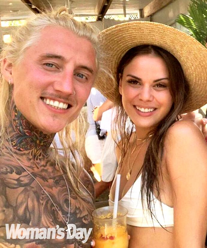 Renee and Ciarran pictured during their romantic Bali vacay.