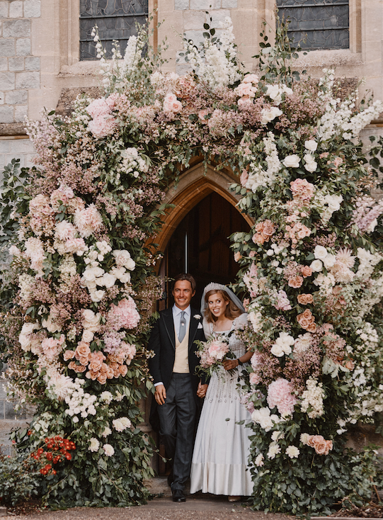 The Palace have released two images from the pair's wedding day.