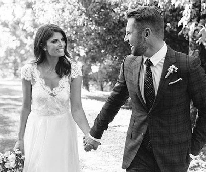 The Aussie golden couple pictured on their wedding day in 2015.