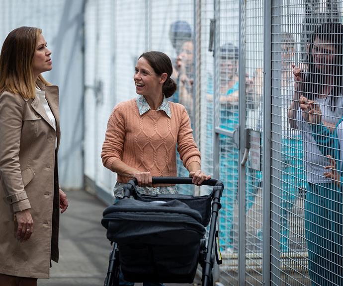 Vera is embracing motherhood but Ann (far left) wants her back in uniform.