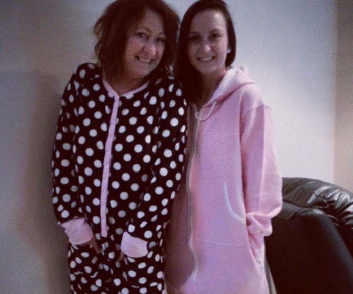 Pyjama party! The pair are incredibly close.