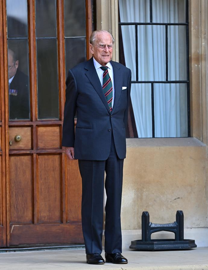 Prince Philip stepped out for his final  ceremony as colonel-in-chief of The Rifles.