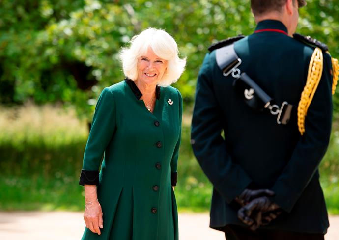 160km away, Camilla too stepped out to step into Philip's former role.